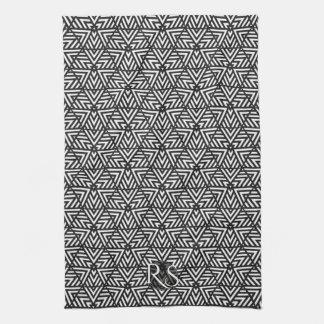 Negro+Modelo blanco del triángulo: Cocina del Toallas