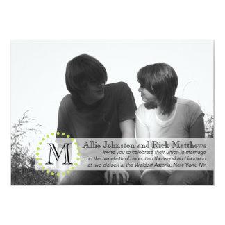 Negro moderno de la invitación del boda de la foto