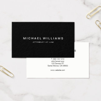 Negro moderno minimalista profesional tarjeta de negocios
