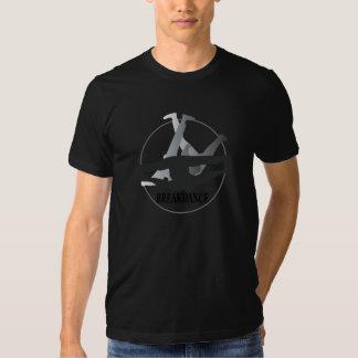 Negro para hombre de la camiseta de la danza de