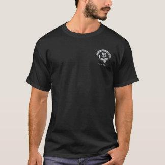 Negro para hombre de la camiseta del camino de la