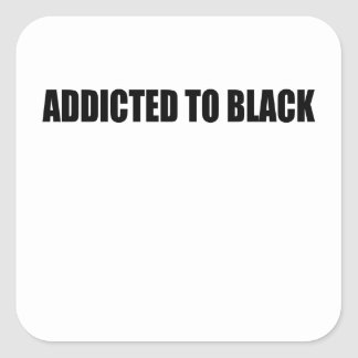 negro pegatina cuadrada