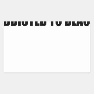negro pegatina rectangular