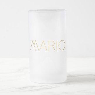 Negro personalizado del oro de Mario de la fuente Taza De Cristal