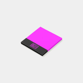 Negro personalizado y fucsia notas post-it®