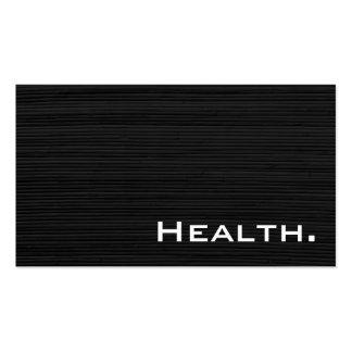 Negro Profesional-Moderno No.3 de la salud Tarjetas De Visita