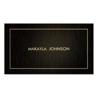 Negro profesional moderno y mínimo y oro plantilla de tarjeta de negocio
