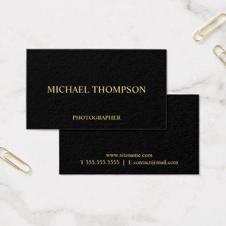 Negro profesional y oro tarjeta de visita