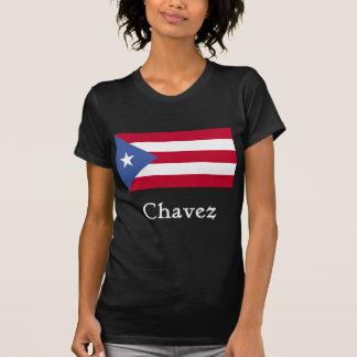 Negro puertorriqueño de la bandera de Chavez Camisetas
