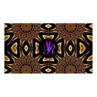 Negro púrpura del oro del vintage elegante del tarjetas de visita