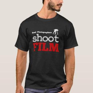 Negro real de la camiseta de la película del