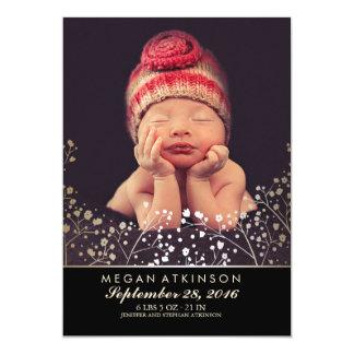 Negro recién nacido del nacimiento de la foto del invitación 12,7 x 17,8 cm