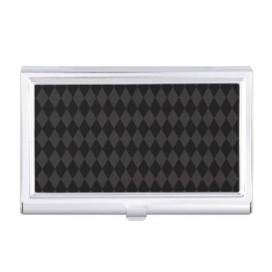 Negro retro fresco del modelo del diamante cajas de tarjetas de negocios