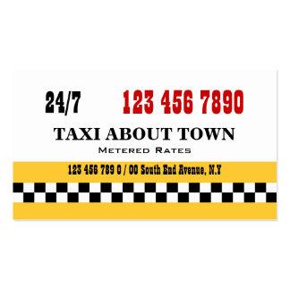Negro rojo amarillo del taxi tarjetas de visita