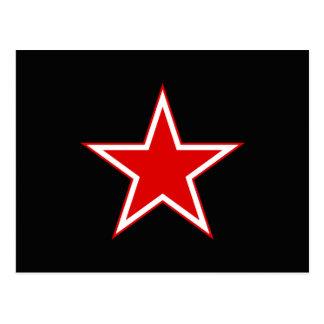 Negro rojo de la estrella postal