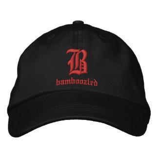 Negro/rojo del casquillo del béisbol de los hombre gorras bordadas