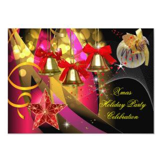 Negro rojo del oro del rosa de la fiesta de invitación 11,4 x 15,8 cm