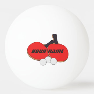 Negro rojo personalizado de los tenis de mesa pelota de ping pong