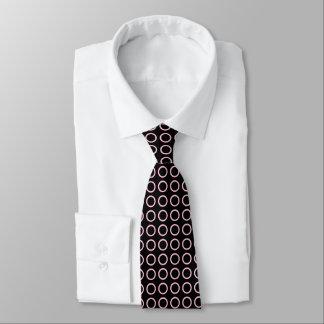 Negro rosado suave de los círculos corbata personalizada