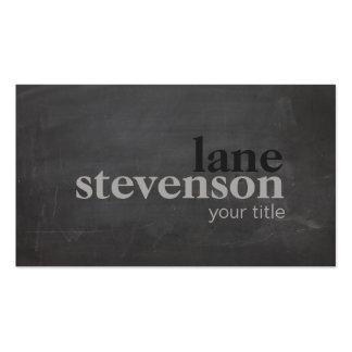 Negro rústico de la tipografía intrépida simple y tarjetas de visita