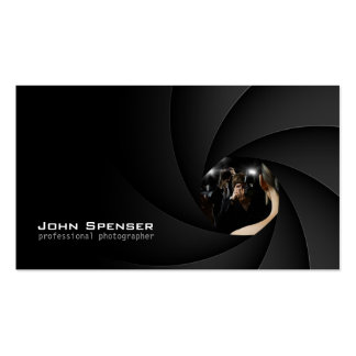 Negro simple la tarjeta del fotógrafo del foco de  plantilla de tarjeta de negocio