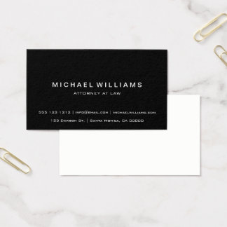 Negro simple moderno minimalista profesional tarjeta de negocios