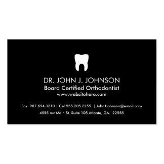 Negro sólido profesional de la odontología tarjetas de visita