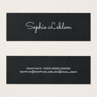 negro superior simple elegante minimalista tarjeta de visita pequeña