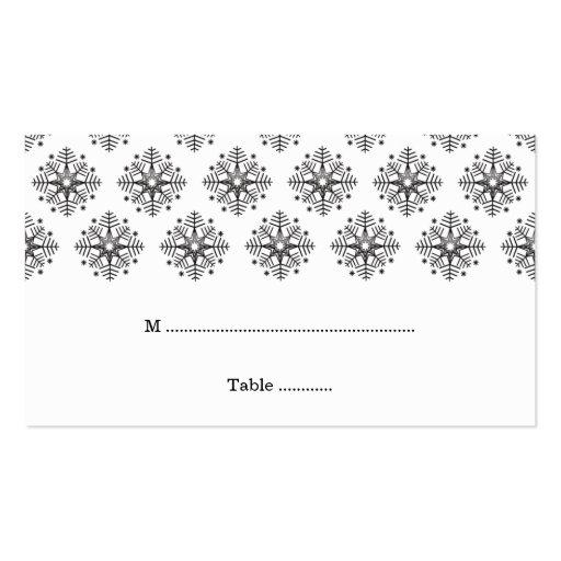 Negro + tarjeta blanca del lugar del boda del invi tarjeta de visita
