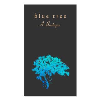 Negro único y simple del árbol de las azules tarjeta de visita
