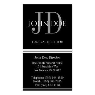 Negro vertical del director de funeraria plantillas de tarjeta de negocio
