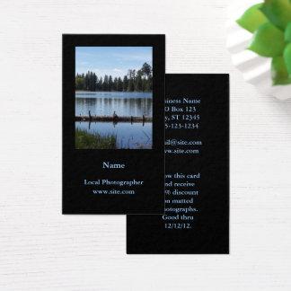 Negro vertical del retrato de la fotografía tarjeta de visita