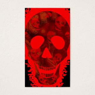 Negro vertical rojo de la tarjeta de visita del