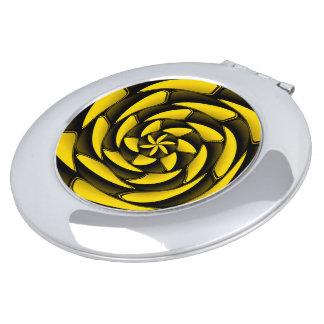 Negro y amarillo del alto contraste espejo de viaje