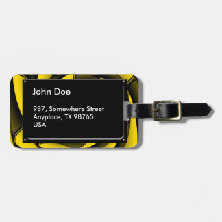 Negro y amarillo del alto contraste etiquetas de maletas
