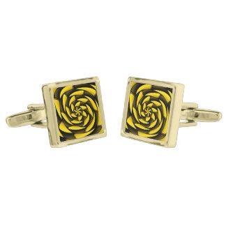 Negro y amarillo del alto contraste gemelos dorados