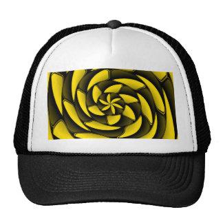 Negro y amarillo del alto contraste gorro