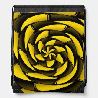 Negro y amarillo del alto contraste mochila