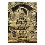 Negro y arte budista tibetano del oro tarjeta de felicitación