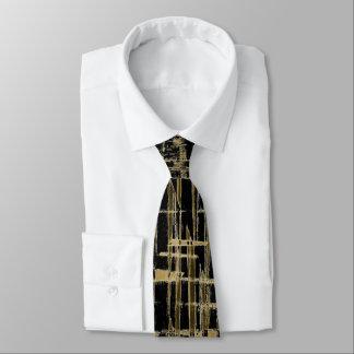 Negro y arte moderno del oro corbata personalizada