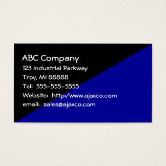 Negro y azules marinos de uso múltiple de la tarjeta de negocios