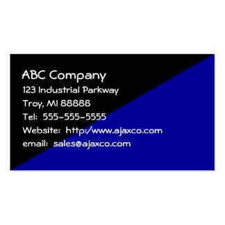 Negro y azules marinos de uso múltiple de la tarjetas de visita
