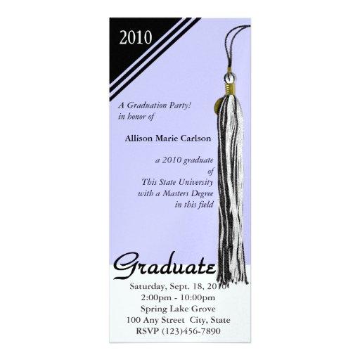 Negro y bígaro de la borla de la graduación comunicados personalizados