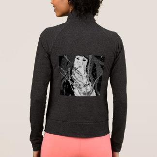 Negro y blanco abstractos de la sirena chaqueta