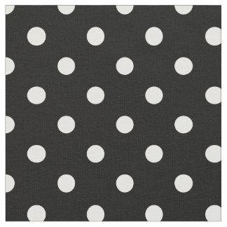 Negro y blanco puntea la tela del  