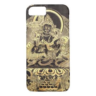 Negro y caso budista tibetano del iPhone 7 del Funda iPhone 7
