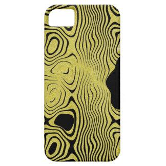 negro y caso del iphone del oro iPhone 5 Case-Mate protector