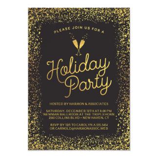 Negro y celebración de días festivos del navidad invitación 12,7 x 17,8 cm