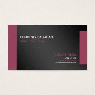 Negro y diseño elegante de la tarjeta de visita de