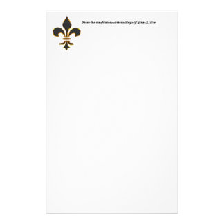 Negro y efectos de escritorio de la flor de lis de papeleria de diseño